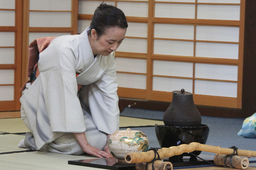 Traditional Japanese tea ceremony