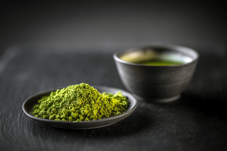 Japanese match green tea